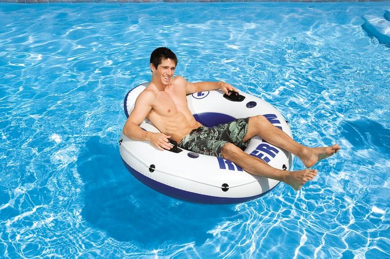 Fauteuil gonflable de piscine intex g ant river run for Fauteuil gonflable piscine intex