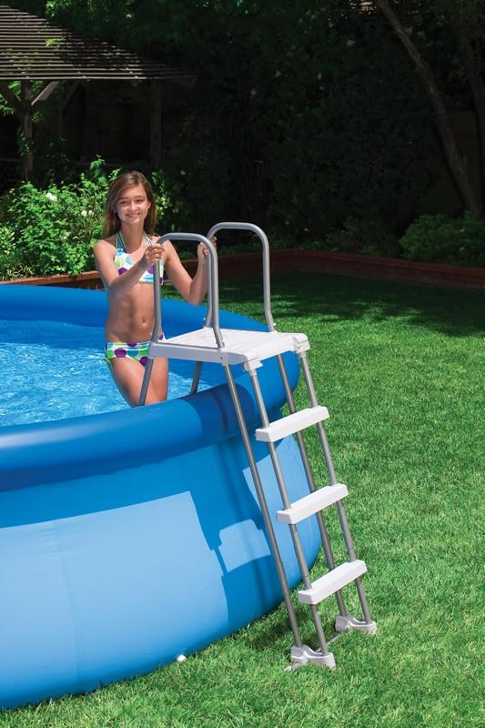 echelle d 39 acc s piscine intex achat vente sur raviday piscine. Black Bedroom Furniture Sets. Home Design Ideas