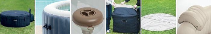 Les accessoires livrés avec ce spa gonflable Intex 4 places