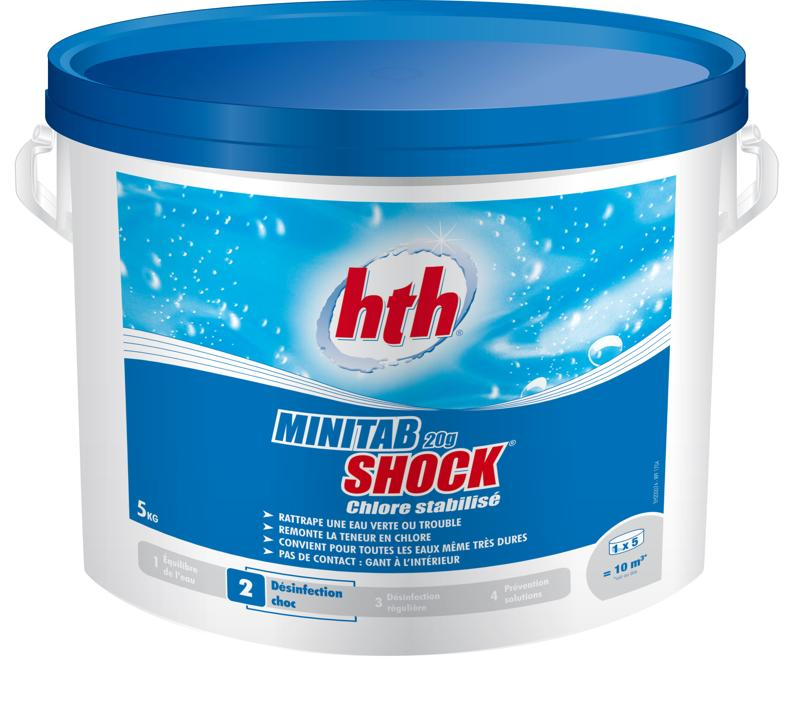 Chlore stabilis en pastilles shock 5kg hth achat sur for Chlore pour piscine intex