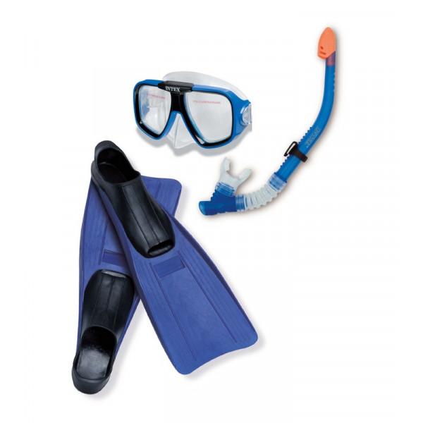 Kit masque tuba et palmes intex achat sur raviday piscine for Palmes pour piscine