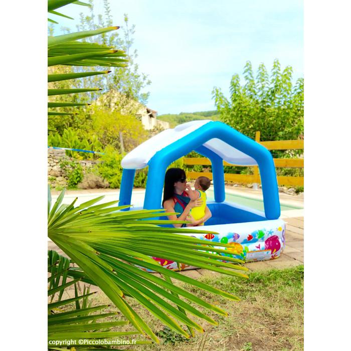 piscine gonflable enfant avec pare soleil aqua intex. Black Bedroom Furniture Sets. Home Design Ideas