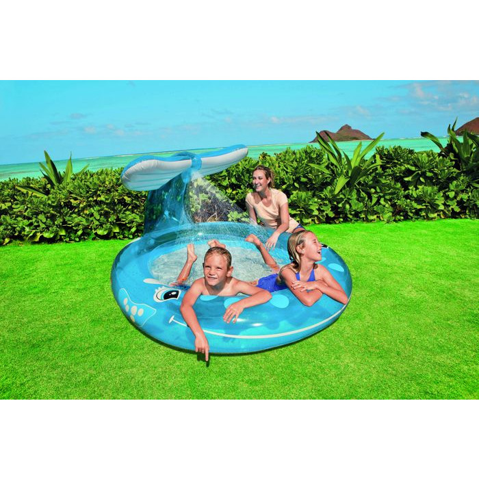 Piscine fontaine baleine piscinette enfant avec jet d - Traitement eau piscine intex ...