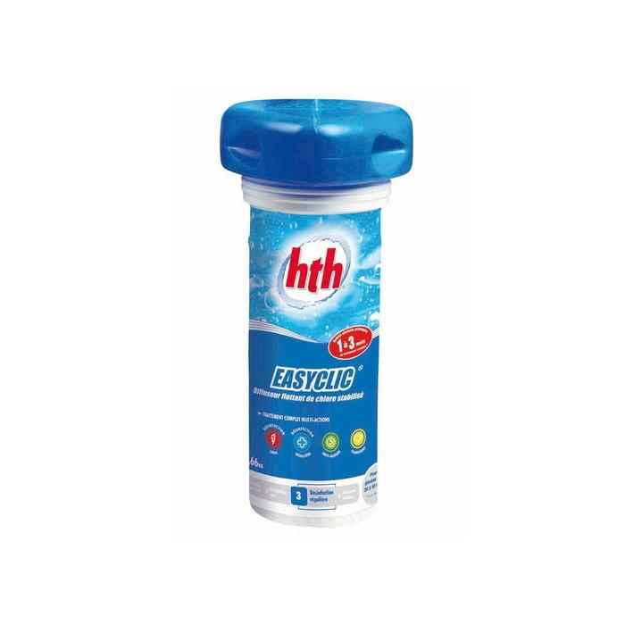Traitement complet choc et multifonction easyclic hth for Chlore hth piscine