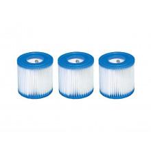 Lot de 3 cartouches de filtration type H Intex