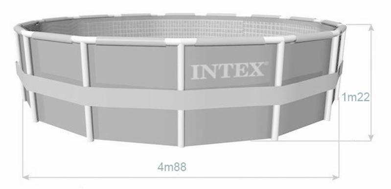 Piscine intex ultra frame x m piscine tubulaire for Liner piscine tubulaire intex 4 88