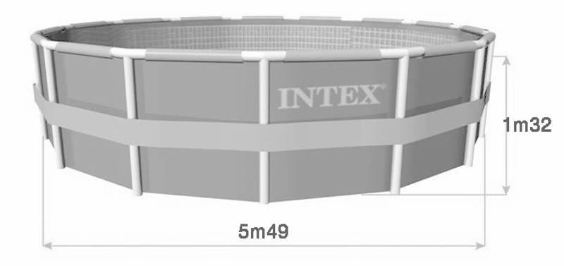 Piscine intex ultra frame 5 49 x 1 32 m piscine tubulaire for Piscine intex ultra frame 5 49x1 32