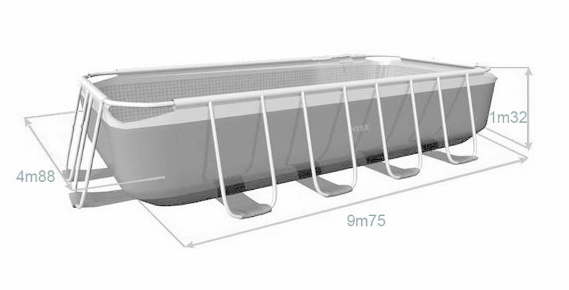 Voir le tableau comparatif de la gamme de piscines for Piscine intex 4 88 x 1 32