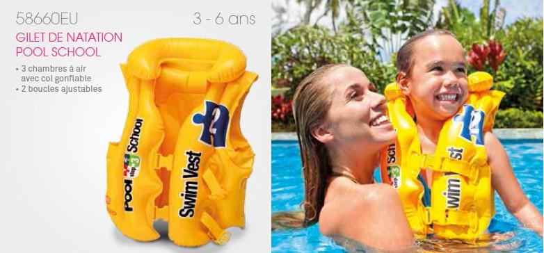 gilet de natation gonflable pour enfant intex pool school. Black Bedroom Furniture Sets. Home Design Ideas