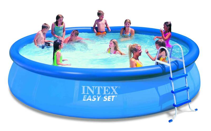 Kit piscine autoportante intex easy set x m - Piscine intex 4 57 x 0 91 ...