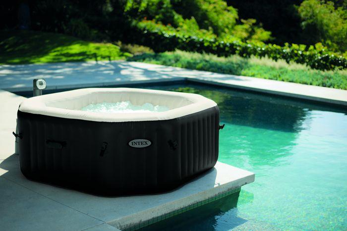 spa intex gonflable pure spa jets et bulles octogonal moins cher chez raviday piscine. Black Bedroom Furniture Sets. Home Design Ideas