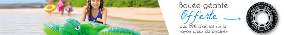 Offre bouée pneu Intex offerte dès 29€ d'achat de jeux de piscine sur Raviday Piscine