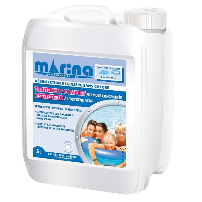 Traitement chlore Marina piscine 5 litres
