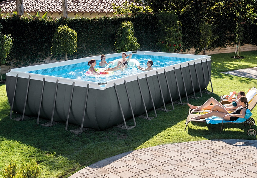 Raviday présente Piscine tubulaire Intex Ultra XTR 7.32 x 3.66 x 1.32 m