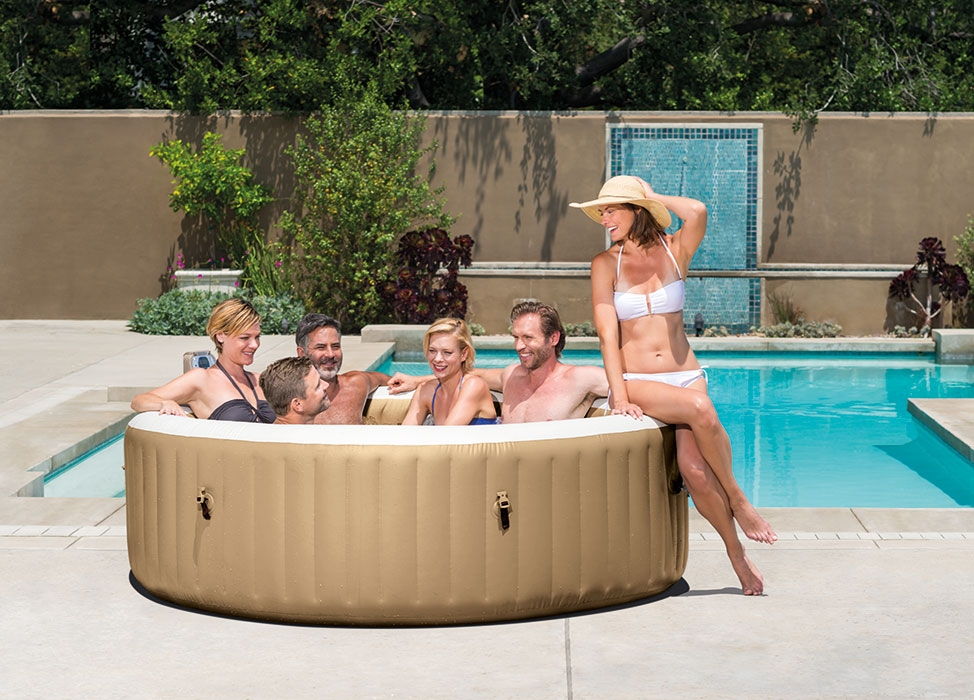 Spa gonflable intex pure spa bulles 6 places 499 - Raviday piscine ...