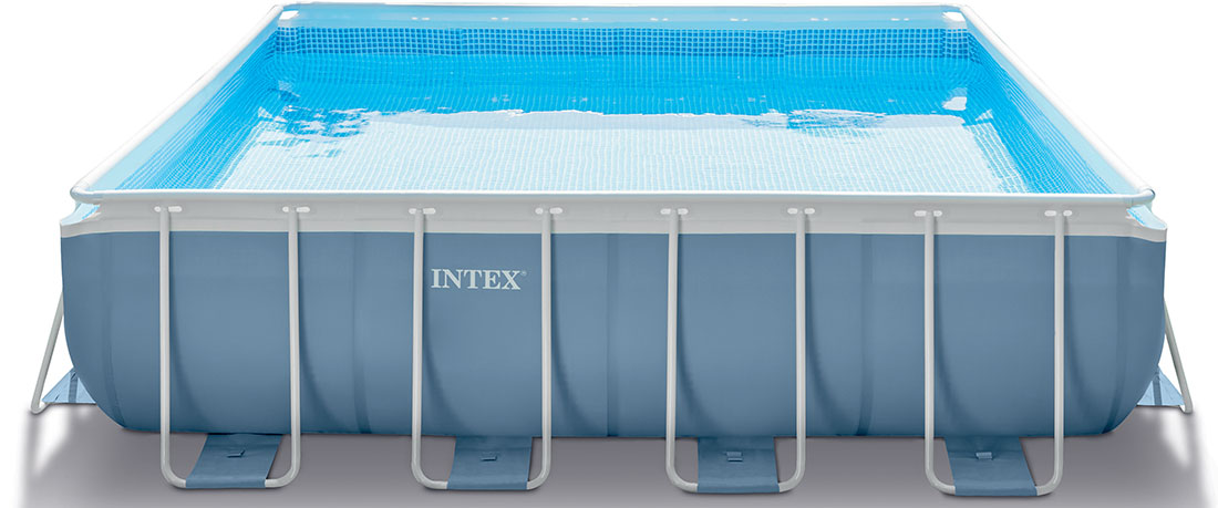piscine tubulaire carr e intex prism frame 4 27 x 4 27 x 1. Black Bedroom Furniture Sets. Home Design Ideas