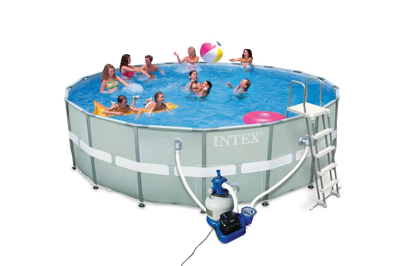 Piscine intex ultra frame 5 49 x 1 32 m piscine tubulaire 28332fr chez raviday piscine for Cash piscine eclairage