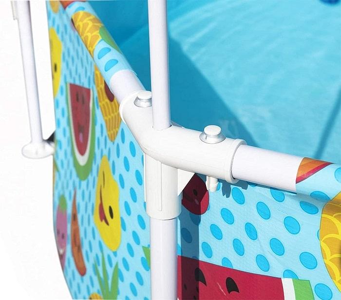 Piscine Steel Pro UV Careful parasol ambiance