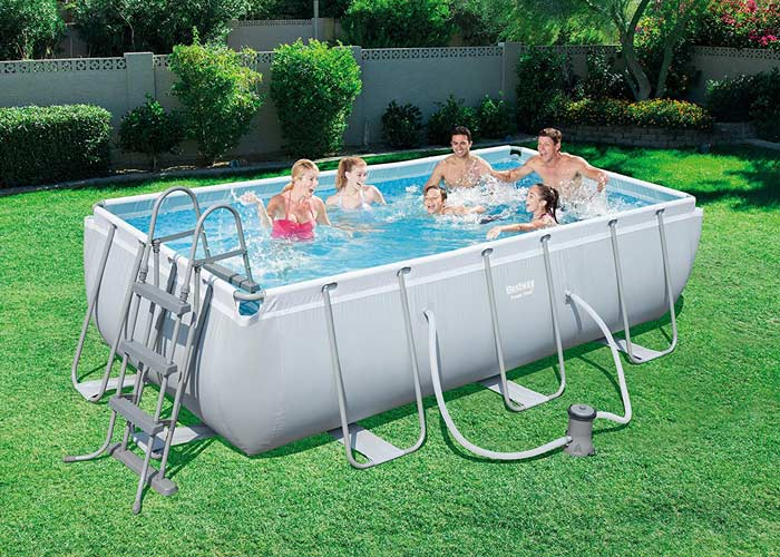 Kit piscine rectangulaire tubulaire Bestway Power Steel L 404 cm x l201 cm x h 100 cm