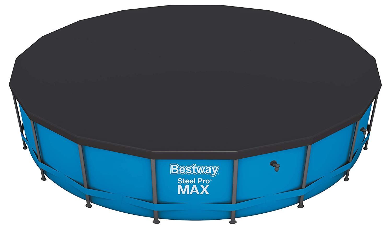 Kit piscine ronde tubulaire Bestway Steel Pro Max Bleue avec tapis de sol