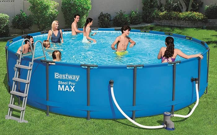 Kit piscine ronde tubulaire Bestway Steel Pro Max Bleue