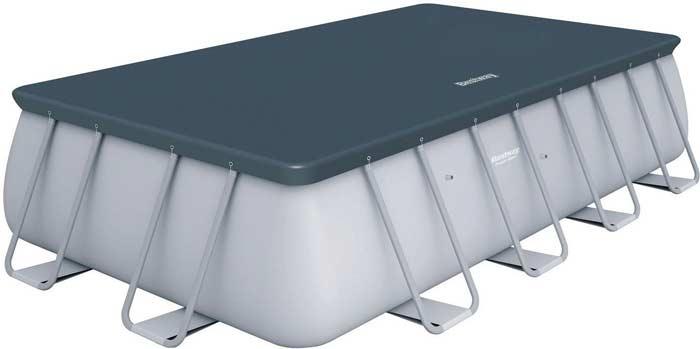 Kit piscine rectangulaire tubulaire Bestway Power Steel bache de protection