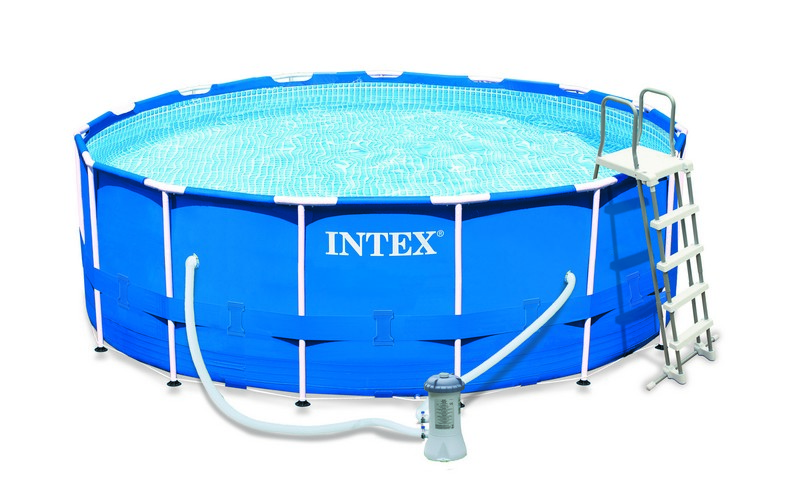 Kit piscine tubulaire intex metal frame 457 x 122 chez for Piscine intex metal frame 4 57x1 22