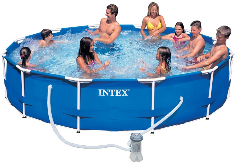 Piscine tubulaire intex metal frame x avec for Catalogue piscine
