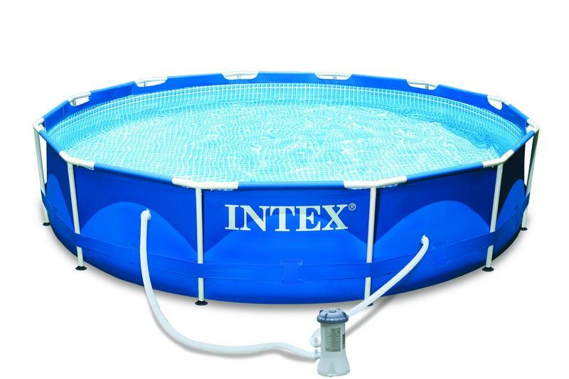 piscine tubulaire intex metal frame x avec purateur. Black Bedroom Furniture Sets. Home Design Ideas