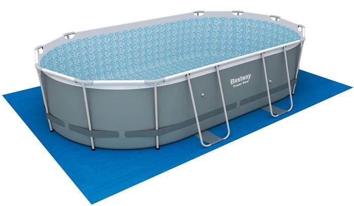 Power STeel Frame piscine bestway fond blanc