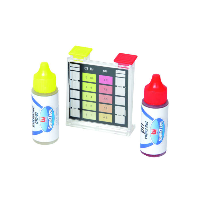 Trousse d 39 analyse chlore brome ph bestway achat sur for Test sel piscine