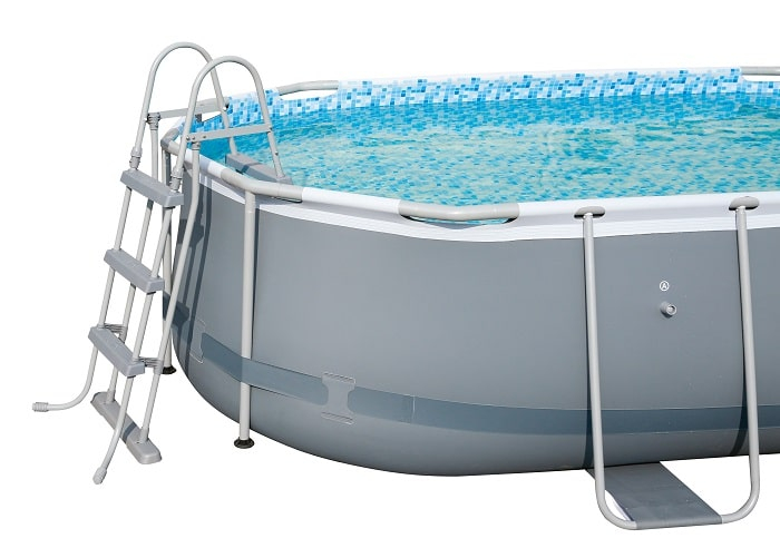 Power STeel Frame piscine bestway fond blanc