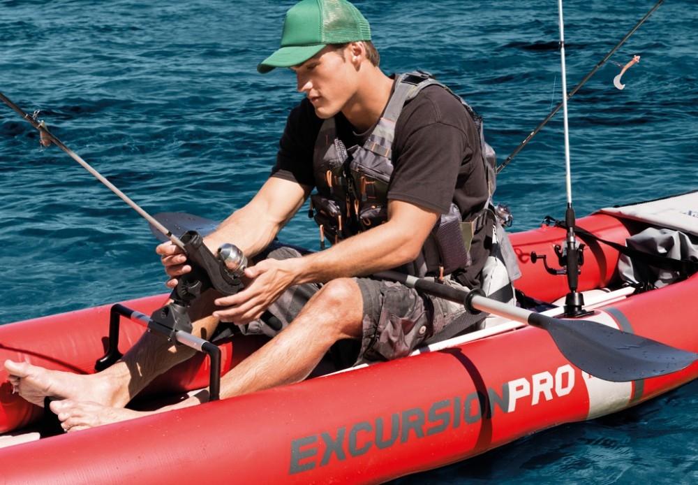 Raviday présente le Kayak Gonflable de pêche Intex Excursion Pro