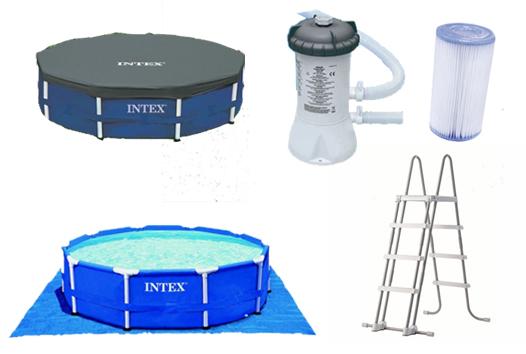 Kit piscine autoport e intex easy set x m for Bache piscine intex 4 57