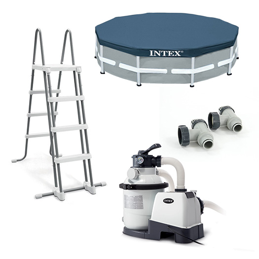Equipements inclus avec la Piscine tubulaire Intex Ultra XTR Frame 4,88 x 1,22 m