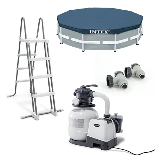 Equipements inclus avec la Piscine tubulaire Intex Ultra XTR Frame 6.10 x 1.22 m