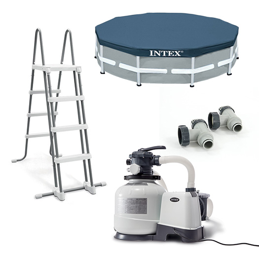 Equipements inclus avec la Piscine tubulaire Intex Ultra XTR Frame 7.32 x 1.32 m