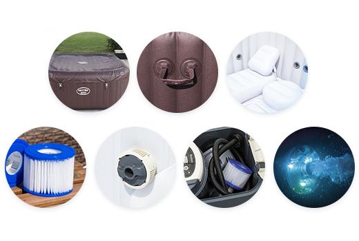 Les accessoires du spa gonflable Bestway Maldives HydroJet Pro