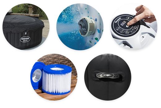 Les accessoires du spa gonflable Bestway Miami