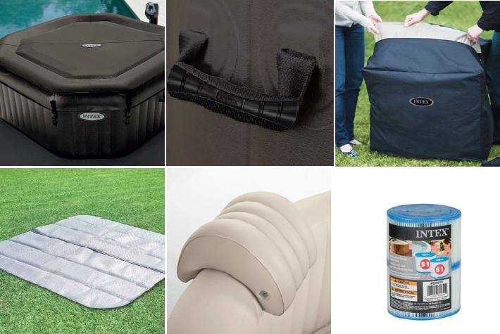 accessoire pour spa gonflable intex bubble spa gonflable et portable with accessoire pour spa. Black Bedroom Furniture Sets. Home Design Ideas