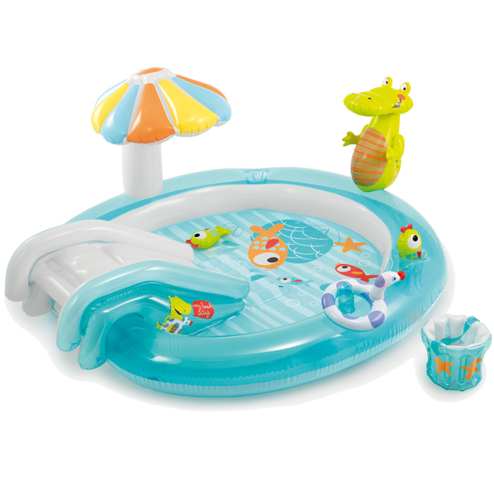 Aire de jeux gonflable intex alligator raviday piscine for Piscine gonflable intex