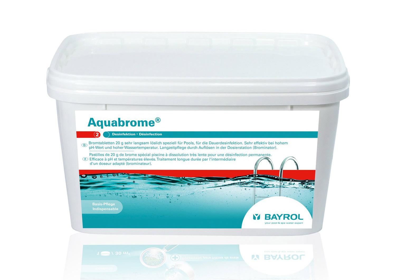 Brome lent pour piscine bayrol aquabrome pastille 5 kg for Brome piscine danger