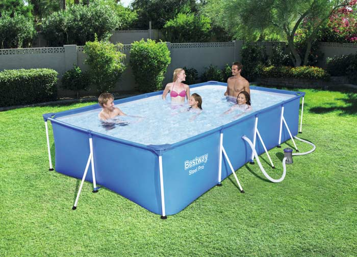 Piscine tubulaire rectangulaire Steel Pro