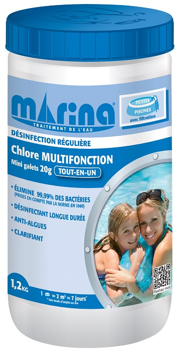 chlore multifonction Marina 20g
