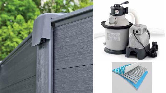 piscine intex graphite 4 78 x 1 24 piscine tubulaire ronde. Black Bedroom Furniture Sets. Home Design Ideas