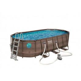 Piscine tubulaire ovale bestway power steel swim vista 5 for Best way piscine