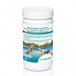 Chlore 5 fonctions pour piscine hors sol 1 kg bayrol - Pastille chlore piscine gonflable ...