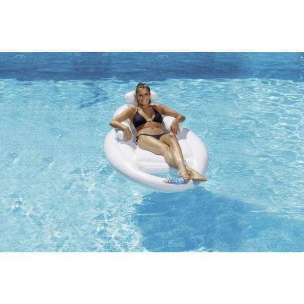 Siège gonflable de piscine avec porte-gobelet Lounger Kerlis