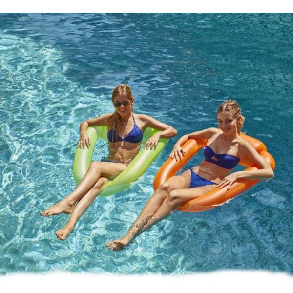 Fauteuil gonflable de piscine fluo Pool Pod Kerlis