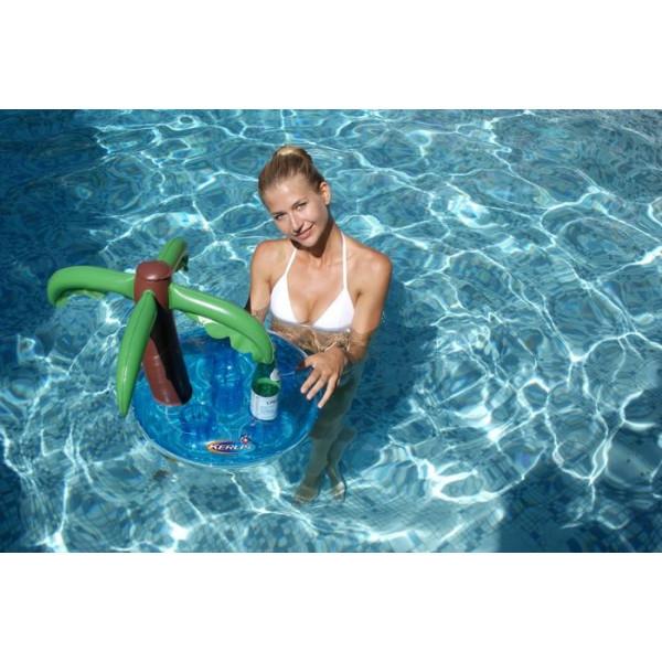 Bar gonflable palmier pour piscine Kerlis